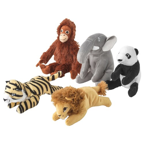 DJUNGELSKOG soft toy assorted designs 14 cm