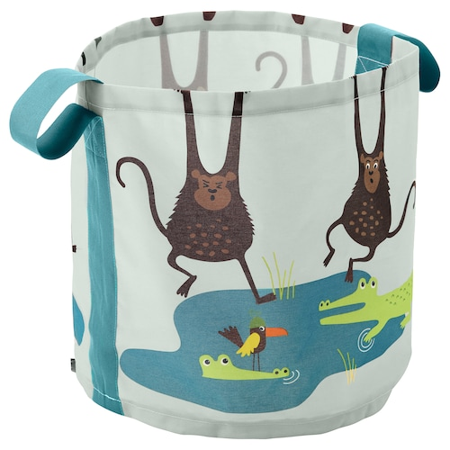 DJUNGELSKOG storage bag monkey 41 cm 43 cm