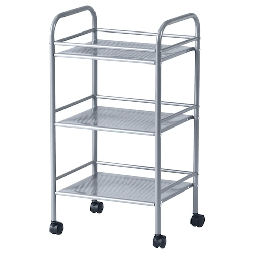 DRAGGAN trolley silver-colour 40.5 cm 32 cm 74.5 cm