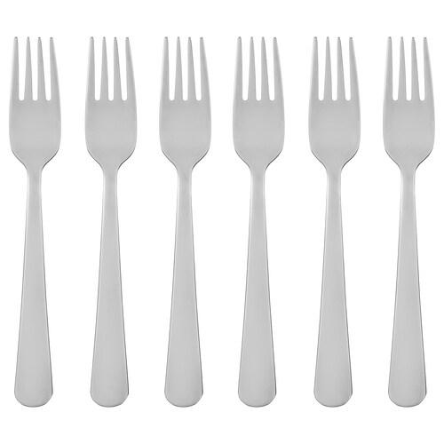 DRAGON salad/dessert fork stainless steel 16 cm 6 pieces