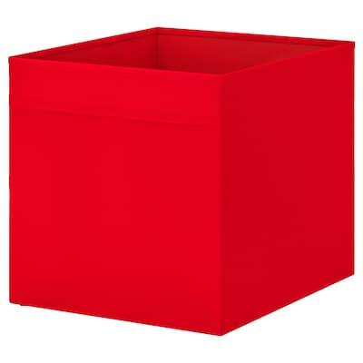 DRÖNA صندوق, أحمر, 33x38x33 سم