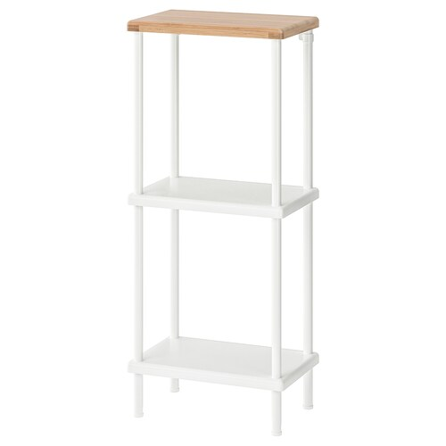DYNAN shelf unit white/bamboo pattern 40 cm 27 cm 96 cm