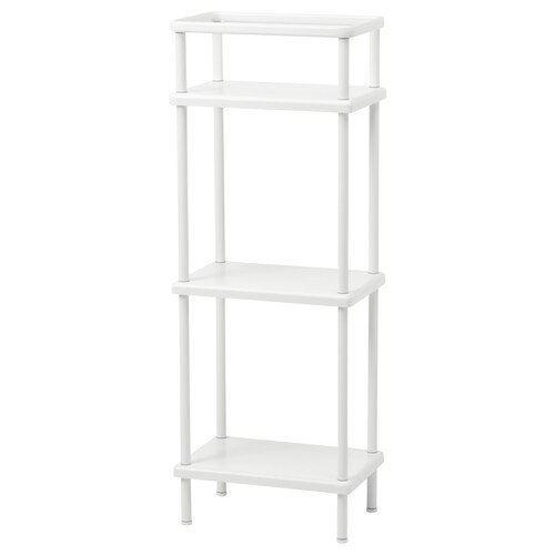 DYNAN shelf unit with towel rail white 40 cm 27 cm 108 cm