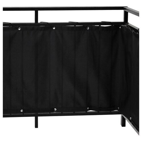 DYNING balcony privacy screen black 250 cm 80 cm