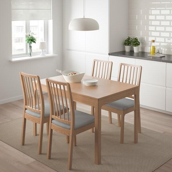 EKEDALEN / EKEDALEN طاولة و4 كراسي