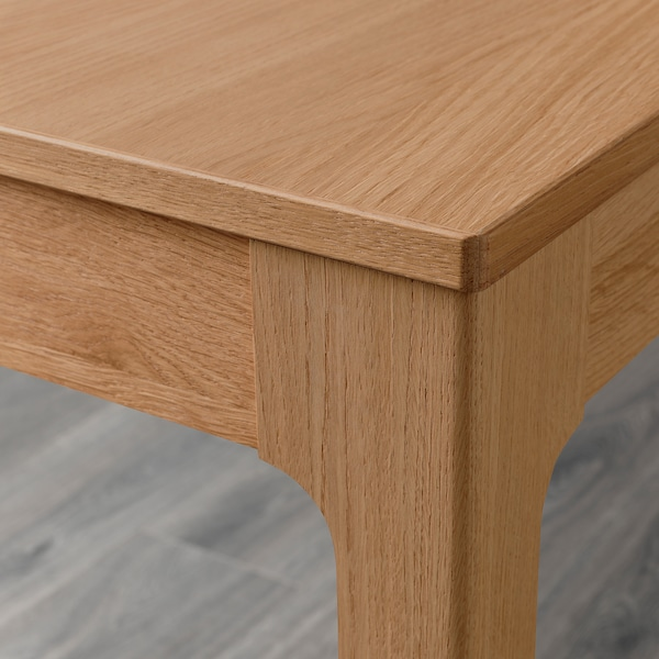 EKEDALEN / ODGER Table and 4 chairs, oak/blue, 120/180 cm