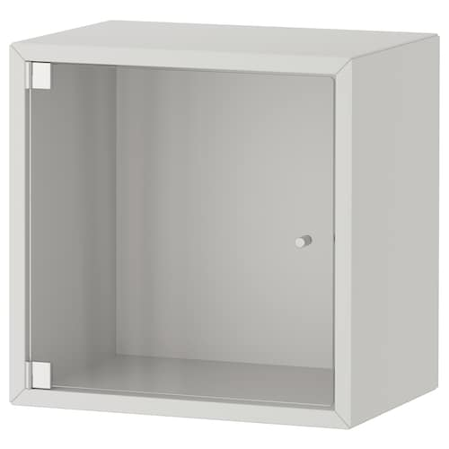 EKET wall cabinet with glass door light grey 35 cm 25 cm 35 cm