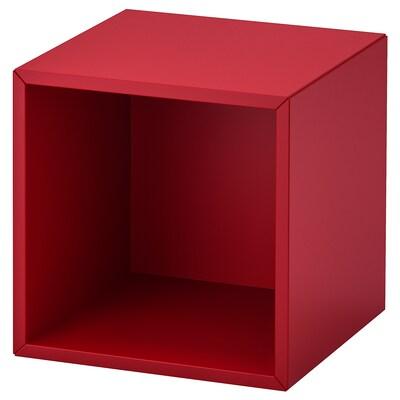 EKET Wall-mounted shelving unit, red, 35x35x35 cm
