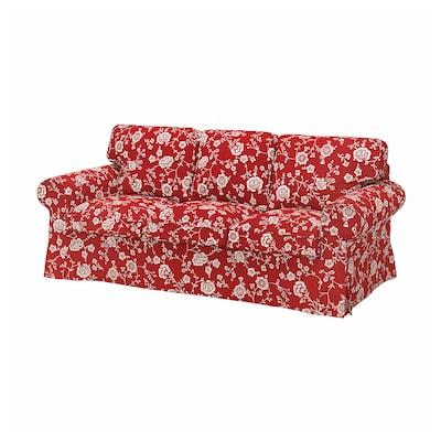EKTORP 3-seat sofa, Virestad red/white