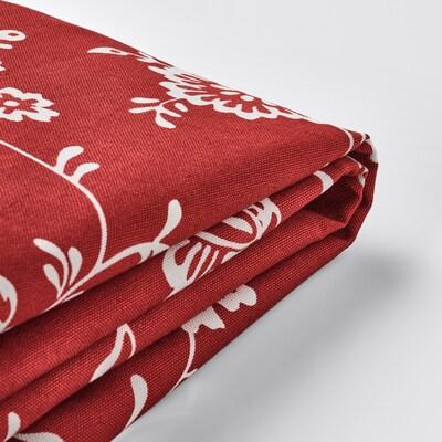 EKTORP Cover for 3-seat sofa, Virestad red/white