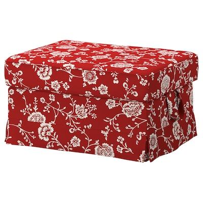 EKTORP Footstool, Virestad red/white
