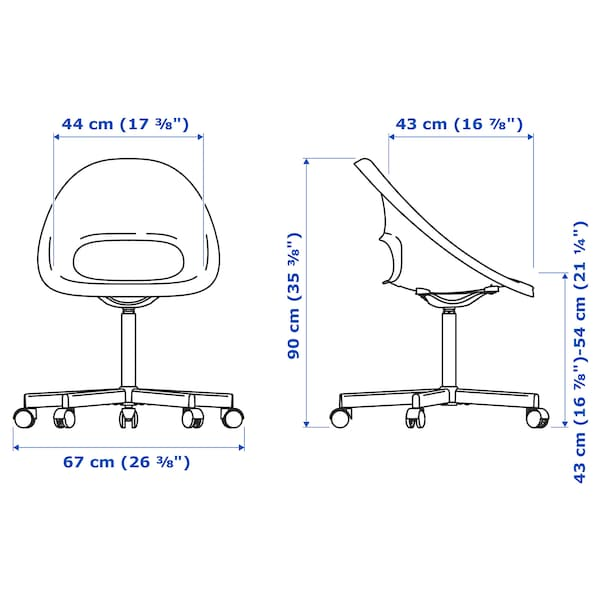 ELDBERGET / BLYSKÄR كرسي دوّار, بيج/أبيض