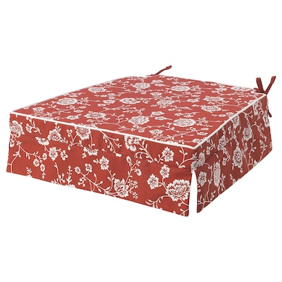 ELSEBET Chair pad, red, 43x42x4.0 cm