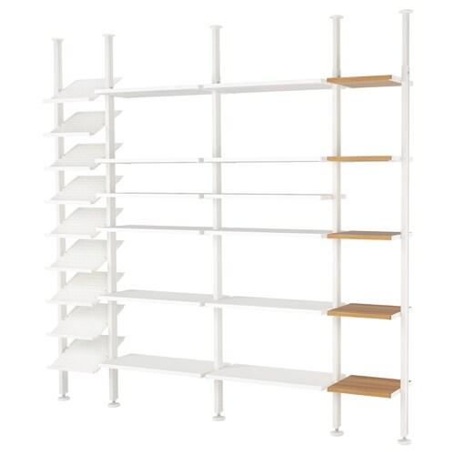 ELVARLI 4 sections white/bamboo 261.8 cm 35.8 cm 222 cm 350 cm