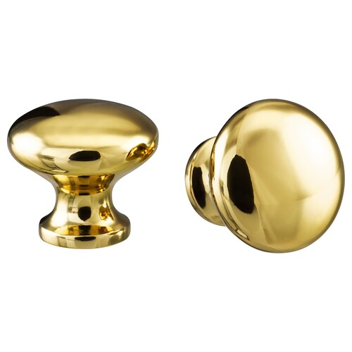 ENERYDA knob brass-colour 24 mm 27 mm 5 mm 2 pieces