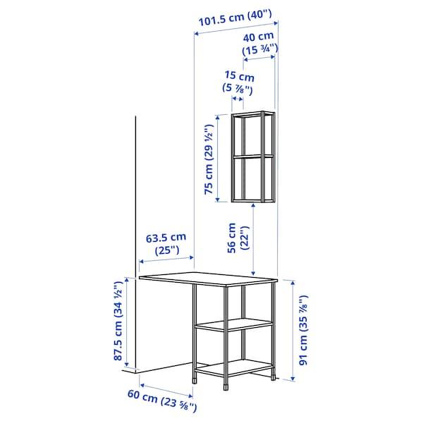 ENHET تشكيلة تخزين لإجهزة منزلية, أبيض, 101.5x63.5x222 سم