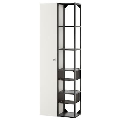 ENHET تشكيلة تخزين حائطية, فحمي/أبيض, 60x30x180 سم