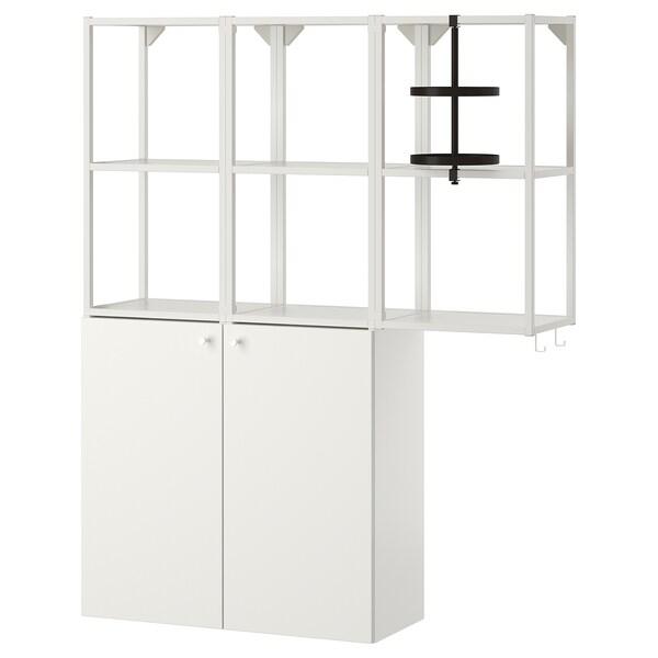 ENHET تشكيلة تخزين حائطية, أبيض, 120x30x150 سم