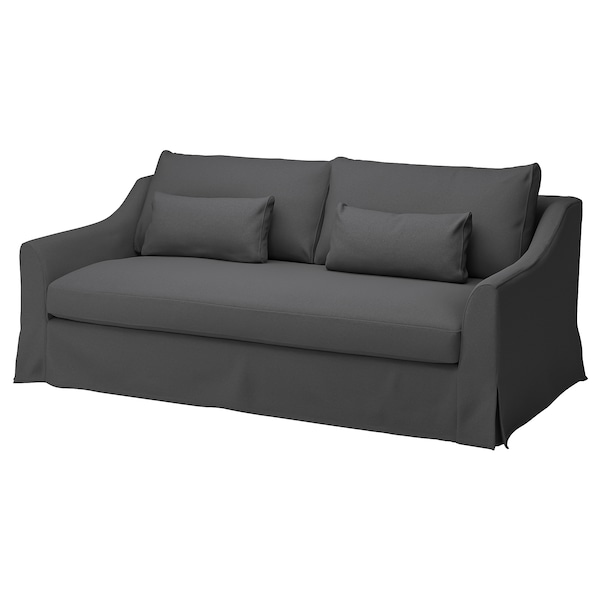 FÄRLÖV Cover for 3-seat sofa, Flodafors grey