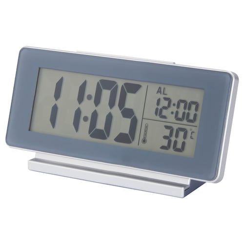 FILMIS clock/thermometer/alarm grey 16.5 cm 4 cm 9 cm