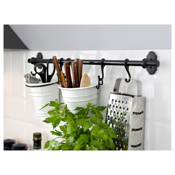 FINTORP Cutlery stand, white/black, 13x13 cm