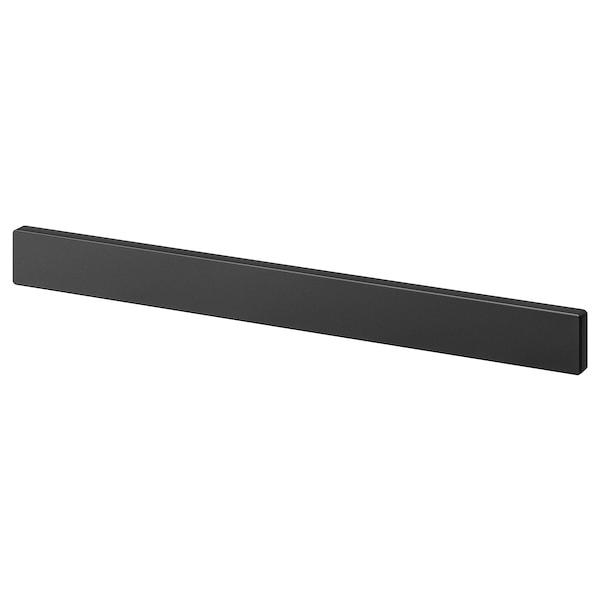 FINTORP Magnetic knife rack, black, 38x4 cm
