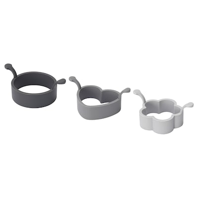 FISKBEN 3-piece cooking mould set, silicone