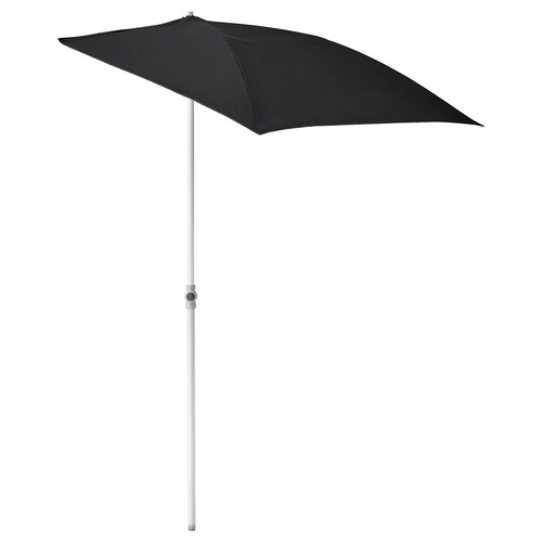 FLISÖ parasol black 160 cm 100 cm 32 mm 150 cm 230 cm 170 g/m²