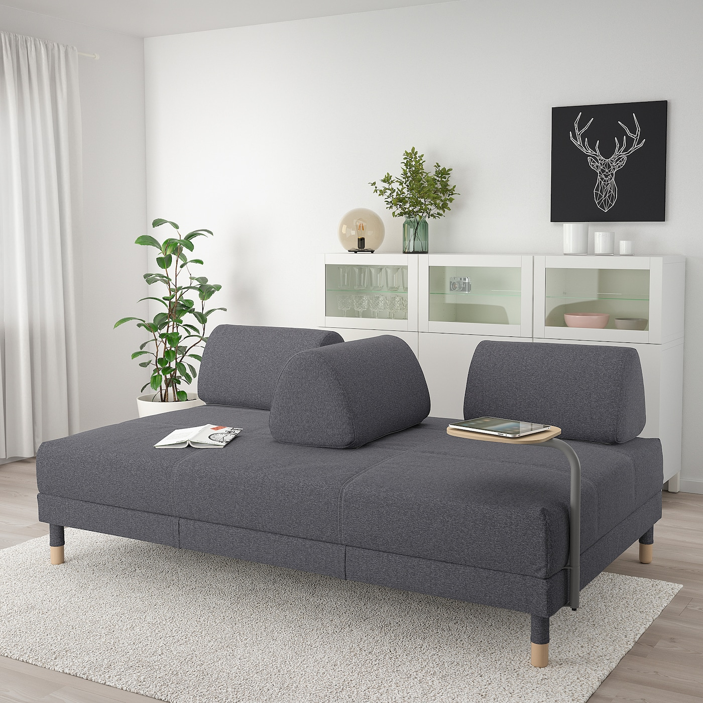 Flottebo Sofa Bed With Side Table