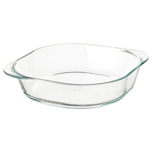 FÖLJSAM oven dish clear glass 24.5 cm 24.5 cm 6 cm