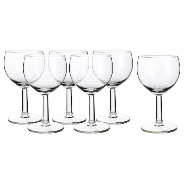 FÖRSIKTIGT كأس, زجاج شفاف, 16 سل