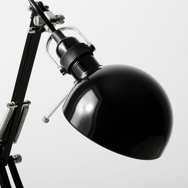 FORSÅ مصباح مكتب, أسود