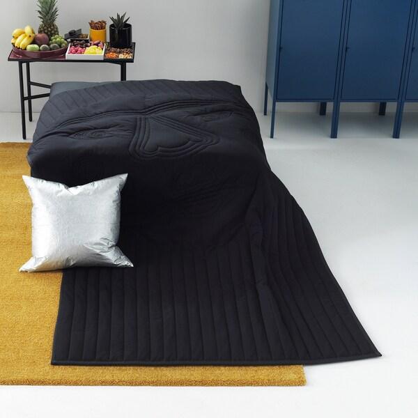 FREKVENS blanket black 210 cm 120 cm 1100 g