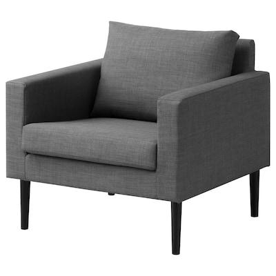 FRIHETEN Armchair, Skiftebo grey