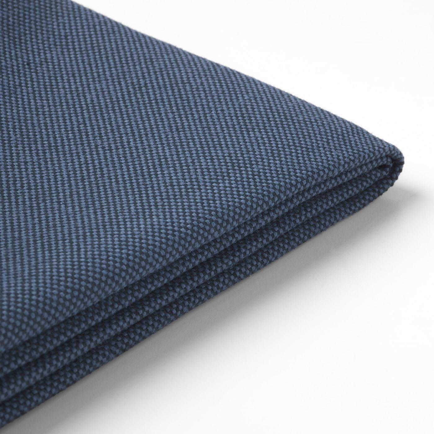 FRÖSÖN Cover for back cushion, outdoor blue, 62x44 cm