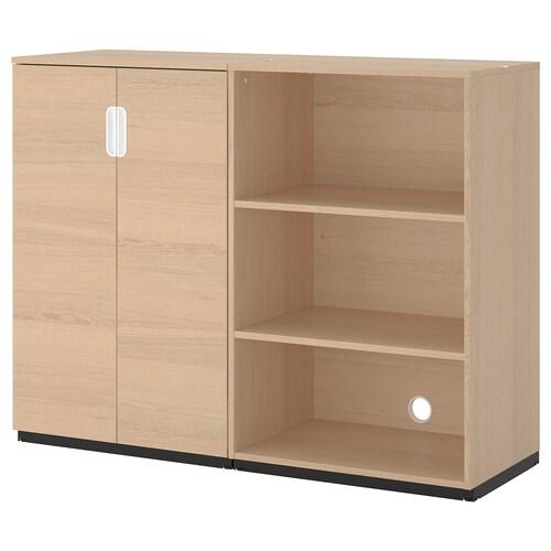 GALANT storage combination white stained oak veneer 160 cm 45 cm 120 cm 30 kg