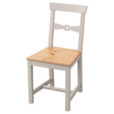 GAMLEBY Chair, light antique stain/grey