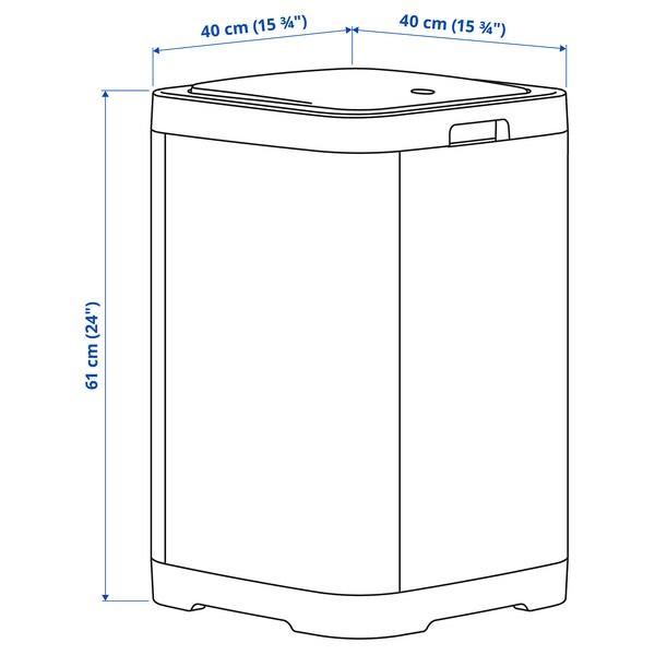 GIGANTISK Touch top bin, dark grey, 60 l