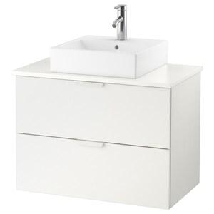 Countertop: White.