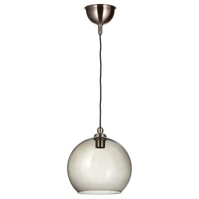 GOTHEM / JAKOBSBYN Pendant lamp, dark grey/smoked, 30 cm