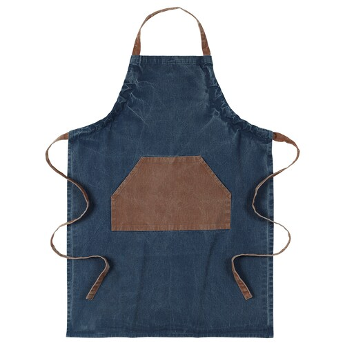 GRILLTIDER apron blue/brown 92 cm 69 cm