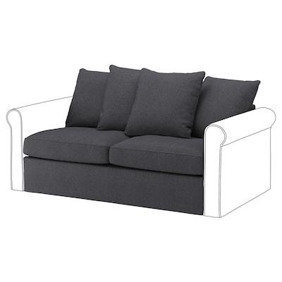 GRÖNLID 2-seat sofa-bed section, Sporda dark grey