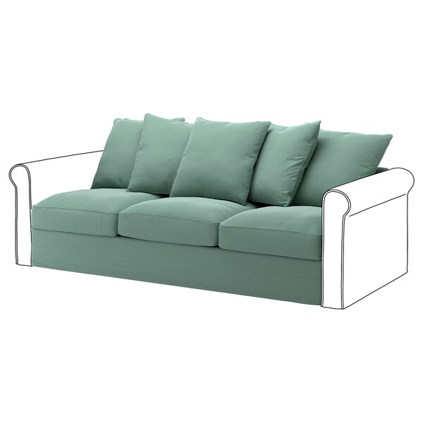 GRÖNLID 3-seat section Ljungen light green 104 cm 68 cm 211 cm 98 cm 7 cm 210 cm 60 cm 49 cm