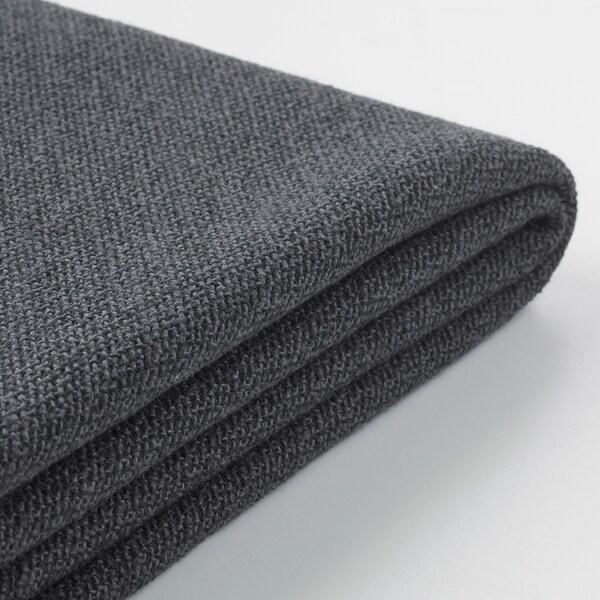 GRÖNLID غطاء كنبة-سرير زاوية، 5 مقاعد, مع أريكة طويلة/Sporda رمادي غامق
