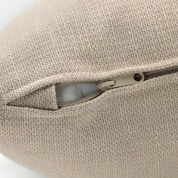 GRÖNLID غطاء كنبة على شكل U، عدد 6 مقاعد, مع طرف مفتوح/Sporda لون طبيعي