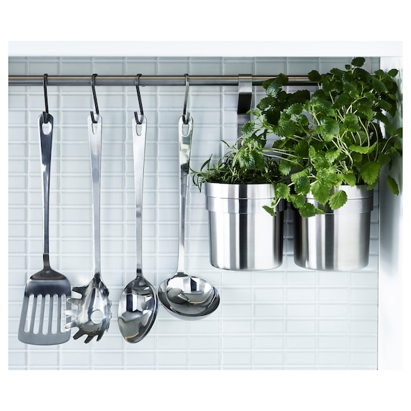 GRUNKA 4-piece kitchen utensil set, stainless steel