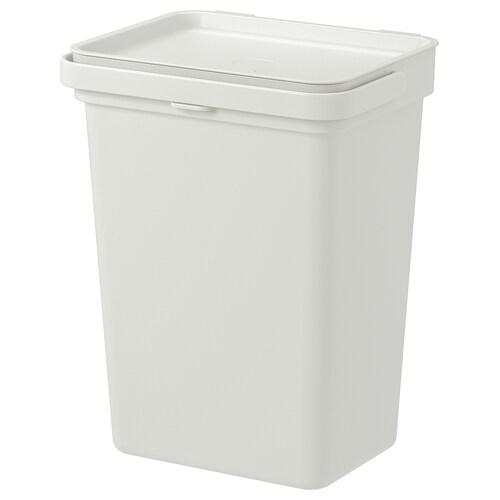 HÅLLBAR bin with lid light grey 14.7 cm 20.1 cm 21.2 cm 26.3 cm 32.6 cm 10 l