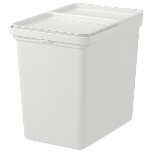HÅLLBAR bin with lid light grey 32.1 cm 20.1 cm 38.6 cm 26.3 cm 32.6 cm 22 l
