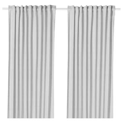 HANNALILL Curtains, 1 pair, grey, 145x300 cm