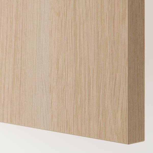 HASVIK Pair of sliding doors, white stained oak effect, 200x236 cm